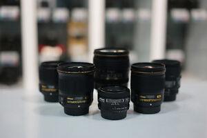 Liquidation d'objectifs Nikon démonstrateur (nouveau prix)