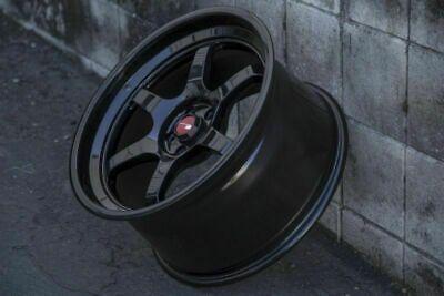 18 Inch Aodhan Ah08 Gloss Black Wheels 18x8.5 +35 5x114.3 Rims Set 4