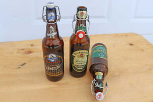 Vintage Beer Bottles with Porcelain Flip Top