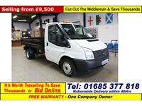 2014 - 14 - FORD TRANSIT T350 2.2TDCI 100PS SINGLE CAB MWB TIPPER (GUIDE PRICE)