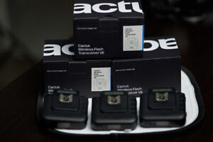 Cactus Wireless Flash Transceiver V6 ( 3 Included )