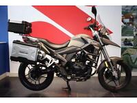 2017 17 SINNIS TERRAIN 125 WITH 3 BOX LUGGAGE. NEW FOR 2017