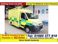 2008 - 58 - IVECO DAILY 50C18 3.0HPI WILKER BODY AMBULANCE / CAMPER GUIDE PRICE