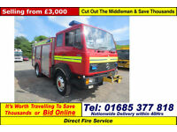 1991 - H - MERCEDES 1120 4X4 12TON FIRE TENDER (GUIDE PRICE)