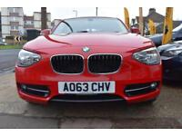 2013 63 BMW 114 1.6i SPORT 5 DOOR GOOD AND BAD CREDIT CAR FINANCE AVAILABLE
