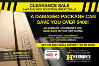 HUGE SIDING BLOWOUT at HERMAN'S BUILDING CENTRES!