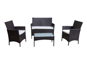 4 Piece patio furniture set brand new balcony condo