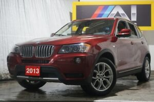 2013 BMW X3 Low KMs  Camera  Bluetooth  Pano Roof  AWD  28i