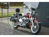 2009 HARLEY-DAVIDSON SOFTAIL FLSTC HERITAGE SOFTAIL CLASSIC in RED HOT SUNGLO