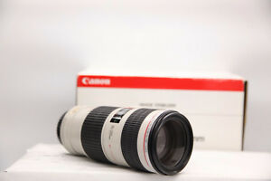like new canon EF 70 200 F4 IS L USM telephoto in box