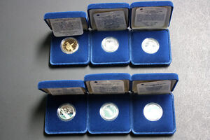 1992 Silver Canadian Quarters with Loonie