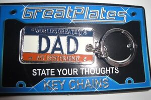KEY CHAINS of the WORLD'S GREATEST DAD