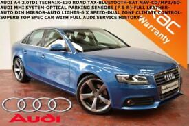 2010 Audi A4 2.0TDIe (136ps) Technik-FULL LEATHER-NAV-B.TOOTH-FULL AUDI S.H.