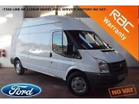 2011 Ford Transit 2.2TDCi Duratorq 115bhp 350L High Roof Van LWB-NO VAT-NO VAT-