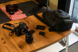 Canon Rebel T5 with 18-55mm, Carry Bag and Extra batteries