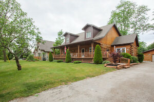 Unique Custom-Built 2 story LOG HOME in Bayfield!