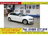2013 - 62 - AUDI A3 QUATTRO SE 2.0TDI 170PS 5 DOOR HATCHBACK (GUIDE PRICE)