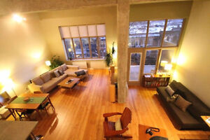 Spacious Loft in the heart of the Plateau - with GARAGE parking