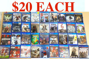 PS4 Games ($20 EACH ) or (3 for $50 ) PICK UP ONLY playstation 4