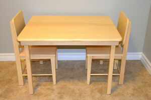 Brand New Solid Wood Children's Table and Chairs Set