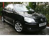 Volkswagen **POLO 1.2 5 Door** Match 2008 Black +TRADE CLEARANCE+