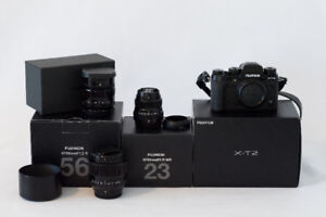 Fuji X T2 Mirrorless Camera and Lenses