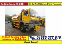 2004 MERCEDES ATEGO 1823 4X4 18TON ECON BODY GRITTER C/W FROUNT MOUNTING PLATE