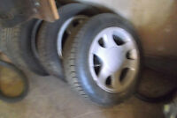 15 inch ford Mustang rims and tires.
