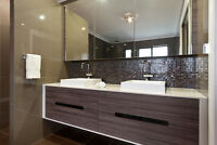 wash room and counter top