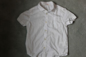 H&M 3-4y white collared shirt