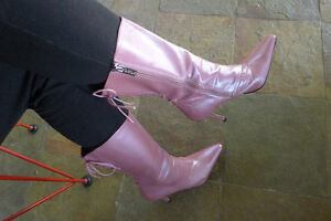 Pink Patent Leather Stietto Boots North Shore Greater Vancouver Area image 2