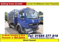 2006 - 06 - DAF FA 45.150 4X2 7.5TON AUTO CAGED TIPPER (GUIDE PRICE)
