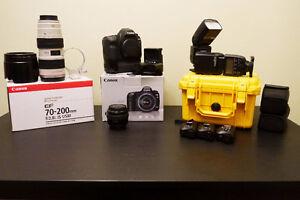 Canon 5D Mk II, 70-200 2.8L IS, 50 1.4 USM, 580ex ii (x2) + More