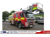 2009 - 59 - VOLVO FM340 4X2 18TON HIGH RISE CREW CAB FIRE TENDER C/W HOIST