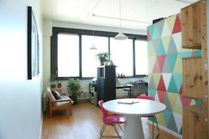 Sunny, Beautiful Shared Office Space on St Laurent