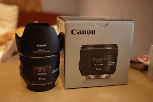 Canon 35 F2 IS with Original Canon Hood + Box, Receipt