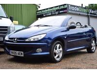 PEUGEOT 206 1.6 206 COUPE CABRIOLET ALLURE, AIR CON ,49,000 MILES ONLY