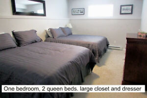 Parksville Private  2 queen 1000 sq ft family vacation apartment