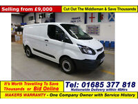 2014 - 14 - FORD TRANSIT CUSTOM 290 ECO-TECH 2.2TDCI SWB VAN (GUIDE PRICE)