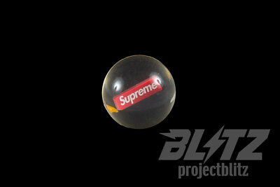 SUPREME BOUNCY BALL FW18 2018 ACCESSORY CLEAR RED WHITE BOX LOGO CDG](Red Bouncy Ball)
