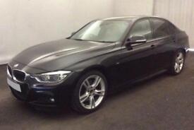 2017 BLACK BMW 330D 3.0 M SPORT DIESEL AUTO 4DR SALOON CAR FINANCE FR £88 PW