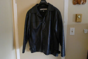 LIKE NEW - Quality Black Leather Jacket - Medium to Large