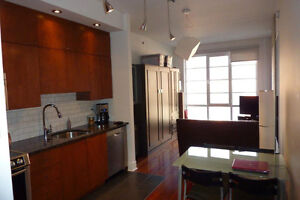 St-Henri, Lachine Canal, furnished heathed loft, 5th floor