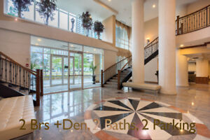 2 Bed + Private Den, 2 Baths, 2 Park - 1300 sqft In Mississauga!
