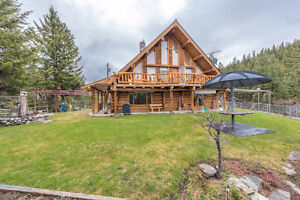 Log Home on 10 Acres in Rural Oliver