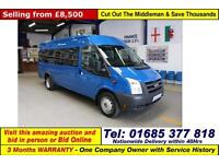 2010 - 60 - FORD TRANSIT T430 2.4TDCI 115PS RWD 17 SEAT MINIBUS (GUIDE PRICE)
