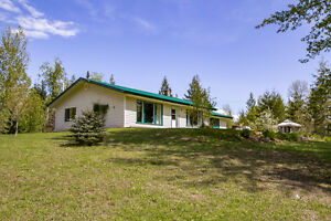 Salmon Arm - Private 1650sqft Rancher on 4.95 Acres