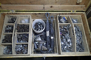 Box of rigging for HVAC, piping, sprinklers etc.