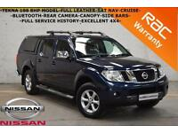 2010 Nissan Navara 2.5dCi Tekna 188BHP-LEATHER-SAT NAV-REAR CAMERA-CRUISE-CANOPY
