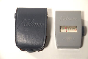 """KALIMAR EXPOSURE """"LIGHT METER P-A-L, WITH LEATHER CASE """"camera'"""